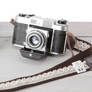 カメラストラップ camera strap 一眼レフ ミラーレス一眼用 レースブラウン|mi-na