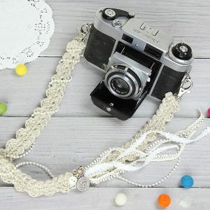 カメラストラップ camera strap 一眼レフ ミラーレス一眼用  レースガーリー mi-na