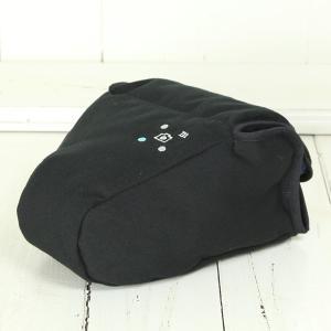 カメラケース camera case 一眼レフ用 「カメラのお洋服 スリム」 ブラック 帆布 needlework(刺繍)シリーズ|mi-na