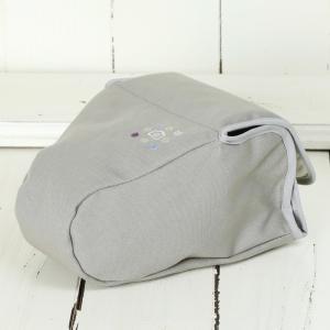 カメラケース camera case 一眼レフ用 「カメラのお洋服 スリム」ライトグレー 帆布 needlework(刺繍)シリーズ|mi-na