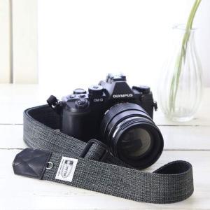 カメラストラップ camera strap 一眼レフ ミラーレス一眼用 プロテジェ ブラックミックス 3.5cm幅フリータイプ|mi-na