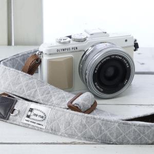 カメラストラップ ☆ミーナオリジナル☆デジタルカメラストラップ スウェットグレーチェック【フリータイプ】|mi-na