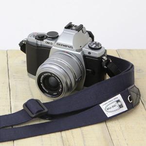 カメラストラップ camera strap 一眼レフ ミラーレス一眼用 H.L.ネイビー フリータイプ|mi-na