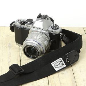 カメラストラップ camera strap 一眼レフ ミラーレス一眼用 H.L.ブラック フリータイプ|mi-na