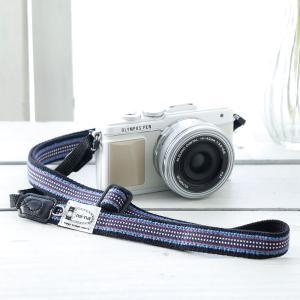 カメラストラップ camera strap 一眼レフ ミラーレス一眼用 ドットラインsanadacord フリータイプ|mi-na