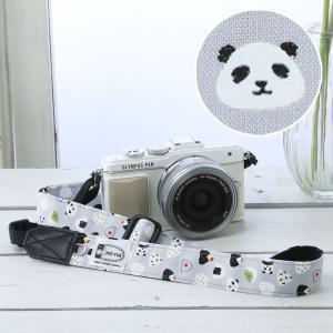 カメラストラップ camera strap 一眼レフ ミラーレス一眼用 おにぎりパンダ フリータイプ|mi-na