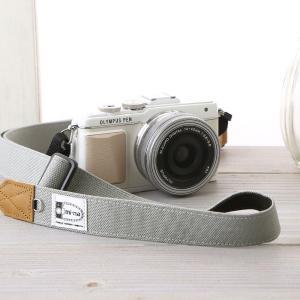 カメラストラップ camera strap 一眼レフ ミラーレス一眼用 CORDURAR(コーデュラR)グレー フリータイプ|mi-na