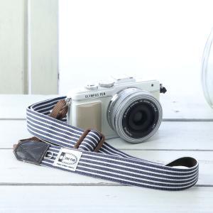 カメラストラップ camera strap 一眼レフ ミラーレス一眼用 アメリカンヒッコリー フリータイプ|mi-na