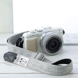 カメラストラップ camera strap 一眼レフ ミラーレス一眼用 プロテジェ グレーミックス 撥水加工 フリータイプ|mi-na