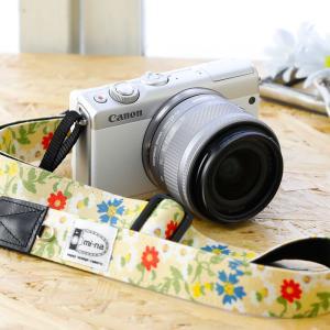 Canon M100 Kiss M対応 カメラストラップ/取付8mm幅【フリータイプ】/[LIBERTY] フェアリーブーケ|mi-na