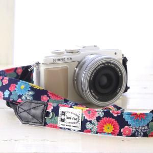 カメラストラップ camera strap 一眼レフ ミラーレス一眼用 菊花絢爛 フリータイプ
