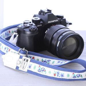 カメラストラップ camera strap 一眼レフ ミラーレス一眼用 エーデルブルーメ ホワイト フリータイプ|mi-na