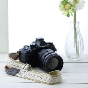 カメラストラップ camera strap 一眼レフ ミラーレス一眼用 レースベージュ フリータイプ|mi-na|02