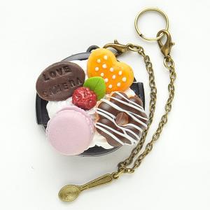 【37mm】デコレンズキャップ/チョコドーナツクリーム|mi-na