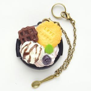 【37mm】デコレンズキャップ/チョコアイスクリームビスケット|mi-na