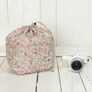 おしゃれ ふわふわソフトタイプ カメラ用 12ポケットインナーバッグ/プティフル―ルピンク mi-na