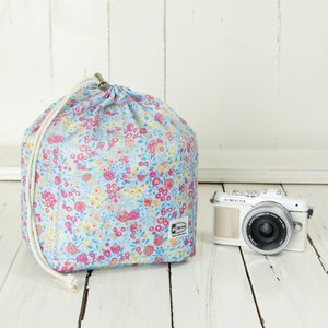 おしゃれ ふわふわソフトタイプ カメラ用 12ポケットインナーバッグ/sky berry field mi-na