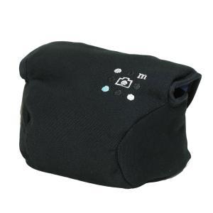 カメラケース camera case ミラーレス一眼カメラ用 カメラのお洋服 ナノ / ブラック needlework(刺繍)シリーズ|mi-na