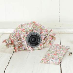 ミラーレス用 レインカバー 「カメラのレインコートミニ」  プティフルールピンク|mi-na