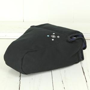 カメラケース camera case 一眼レフ用 「カメラのお洋服 ワイド」 ブラック 帆布 needlework(刺繍)シリーズ|mi-na