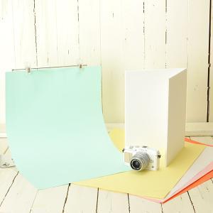 テーブルフォト ミニスタジオ シンプル背景紙スタンドと背景紙・レフ板の3点セット|mi-na