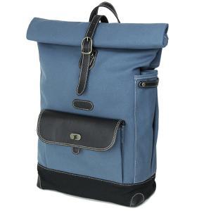 カメラバッグ 一眼レフ camera bag おしゃれ かわいい ロール帆布リュック/ スモーキーブルーブラック|mi-na