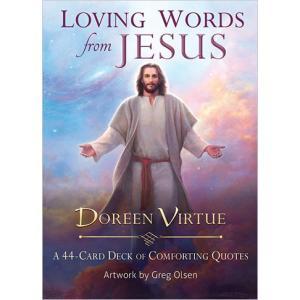 キリストの美しく愛らしい肖像画や聖書の詩が描かれています。 カード側面は煌びやかな金の加工が施されて...