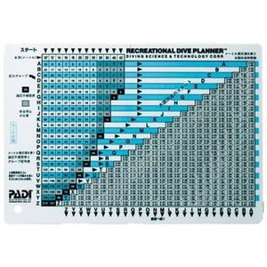 PADIジャパン リクリエーショナルダイブプラナー(テーブルタイプ)|mic21