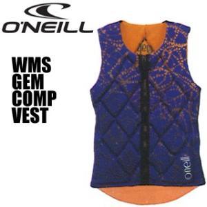 O'NEILL オニール WB-1701 WMS GEM COMP VEST ウィメンズジェムコンペベスト(コバルト/パパイア)|mic21