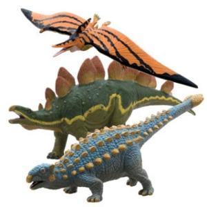 【フェバリット】DINOSAUR ビニールモデル個性派恐竜3体セット(FD305-307-308) mic21