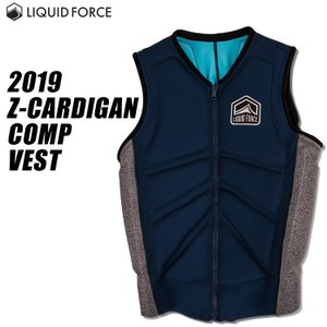 【Liquid Force リキッドフォース】 2019年モデル Z-CARDIGAN COMP VEST ジップ カーディガンCOMP メンズベスト [NAVY/HEATHER]|mic21