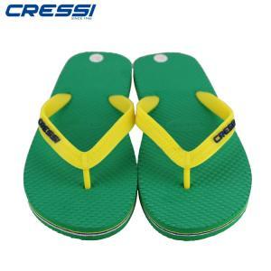 クレッシーサブCRESSI Beach Flip Flops ビーチ サンダル Green/Yellow mic21