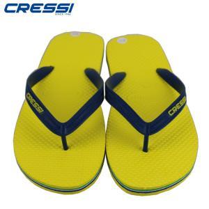 クレッシーサブ CRESSI Beach Flip Flops ビーチ サンダル Yellow/Navy mic21