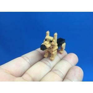 世界最小級の組み立てブロックミクブロ2 シェパード -犬シリーズ- micblo2