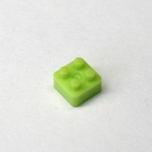 ライトグリーン  2×2ブロック  10個