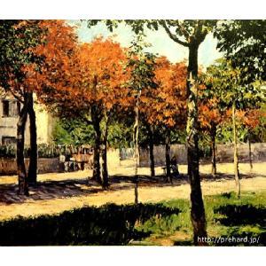 カイユボット 「アルジャントゥーユの広場」 既製サイズ版-原画同縮尺近似(8号)(プリハード・デジタグラ)|micbox-art-shop