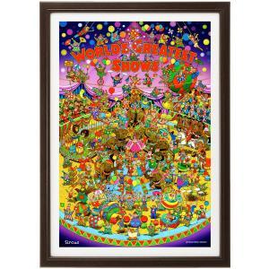 ファンタジーアート(Circus・サーカス)額:CFシリーズP20号(72.7×53.0cm) マット付き・ジクレー版画|micbox-art-shop