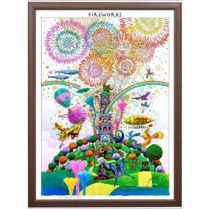 ファンタジーアート(fireworks・花火)額:CFシリーズP40号(100×72.7cm) マット付き・ジクレー版画|micbox-art-shop