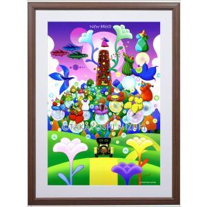ファンタジーアート(New Breed・新生)額:CFシリーズP40号(100×72.7cm) マット付き・ジクレー版画|micbox-art-shop