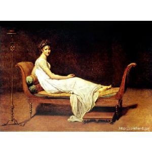 ダヴィッド 「レカミエ夫人の肖像」 原画同縮尺近似(8号)(プリハード・デジタグラ)|micbox-art-shop
