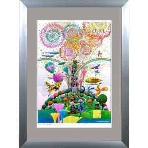 ファンタジーアート(fireworks・花火)額:DLシリーズP30号(91.0×65.2cm) マット付き・ジクレー版画|micbox-art-shop