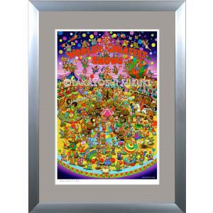 ファンタジーアート(Circus・サーカス)額:DLシリーズP30号(91.0×65.2cm) マット付き・ジクレー版画|micbox-art-shop