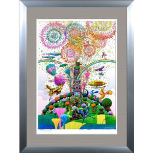 ファンタジーアート(fireworks・花火)額:DLシリーズP40号(100×72.7cm) マット付き・ジクレー版画|micbox-art-shop