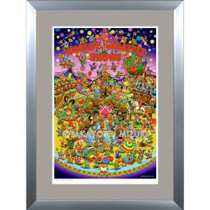 ファンタジーアート(Circus・サーカス)額:DLシリーズP40号(100×72.7cm) マット付き・ジクレー版画|micbox-art-shop