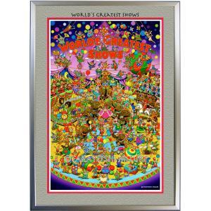 ◆Circus (サーカス)・A3判 (29.7×42.2cm)・フレーム入り・MC画材用紙・アートポスター・ジクレー版画|micbox-art-shop