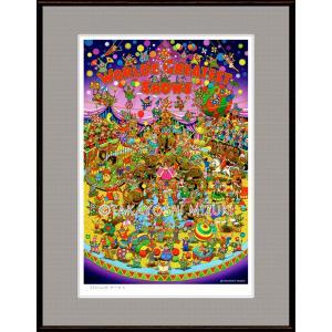ファンタジーアート(Circus・サーカス)額:FacileシリーズP10号(53.0×41.0cm) マット付き・ジクレー版画|micbox-art-shop