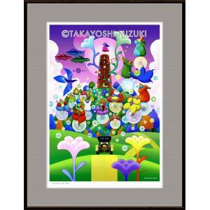 ファンタジーアート(New Breed・新生)額:FacileシリーズP15号(65.2×50.0cm) マット付き・ジクレー版画|micbox-art-shop