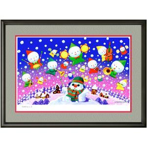 イメージアート 四季「ゆきんこ」facileフレーム P6号(27.3×41.0cm)・ジクレー版画|micbox-art-shop