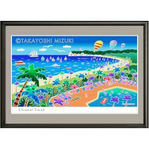 イメージアート 四季「サマータイム」facileフレーム P6号(27.3×41.0cm)・ジクレー版画|micbox-art-shop