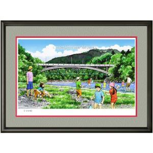 イメージアート 四季「万年橋」facileフレーム P6号(27.3×41.0cm)・ジクレー版画|micbox-art-shop